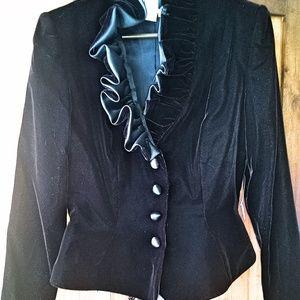 After Five Jackets & Coats - Gothic Black Velvet Victorian Jacket